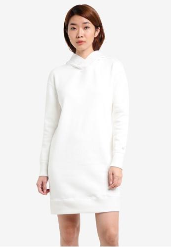 Calvin Klein white Fur Fleece Dress With Hood - Calvin Klein Performance CA221AA0S00FMY_1