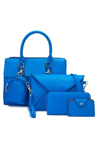 Treasure by B & D blue 5 in 1 Fashion Bag Set TR022AC0K5KOPH_1