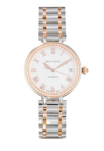 Seagull 717.417L(ST2130 機械機尖沙咀 esprit芯) 32mm 晶石錶框不銹鋼圓錶, 錶類, 飾品配件