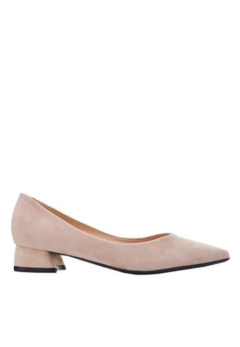 Twenty Eight Shoes 2.5CM尖頭絨面高踭鞋 333-1 07452SHC740723GS_1