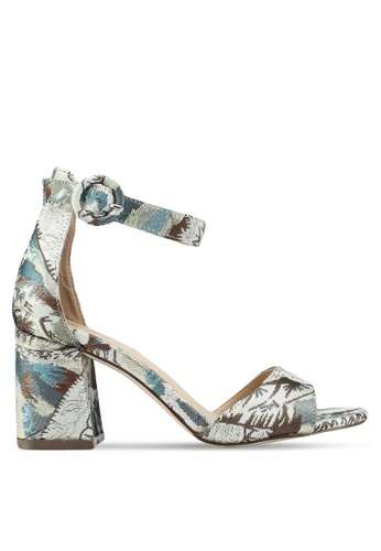 OVS multi Canvas Jacquard Sandals With Heels 94D21SH8735A2EGS_1