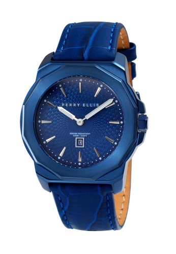 11ca669d31 Perry Ellis blue Perry Ellis Decagon Unisex 42mm Quartz Watch 08006-01  E4EDFAC7AF0B0CGS 1