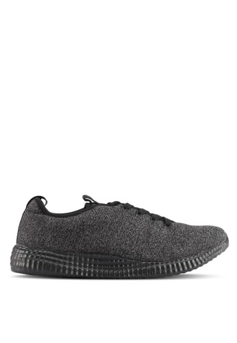 River Island black Knitted Runner Trainers C1966SH60D72EFGS_1