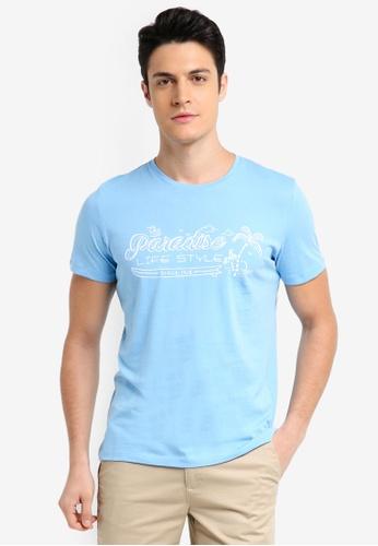 ESPRIT blue Short Sleeve T-Shirt 97D87AA579FA4DGS_1