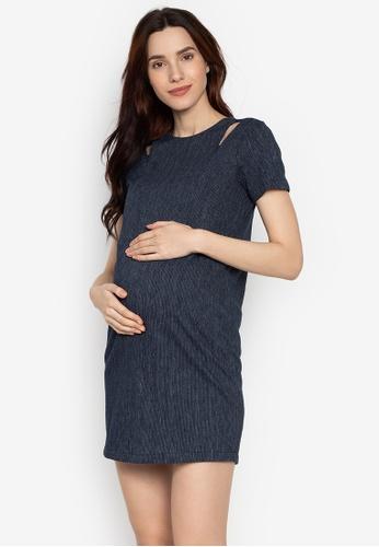018b6879 Shop Belly Bump Textured Nursing Dress Online on ZALORA Philippines