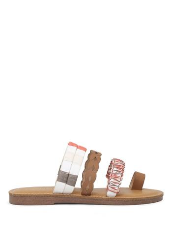 London Rag 米褐色 脚环条带平底鞋 9D8CASHD49C662GS_1