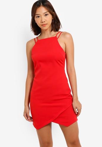 Something Borrowed 紅色 細肩帶緊身短洋裝 69B4BAA4765FC8GS_1