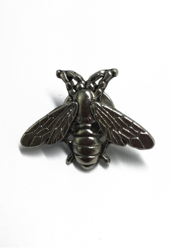 Splice Cufflinks Silver Bee Lapel Pin SP744AC07KWISG_1