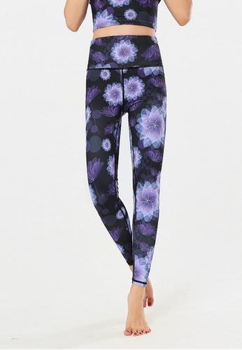 B-Code purple ZYG3020-Lady Quick Drying Running Fitness Yoga Sports Leggings -Purple 31926AA14B2047GS_1