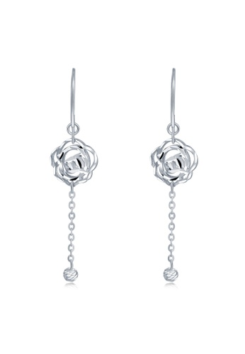 MaBelle silver 14K/585 White Color Gold Gold Rose Flower Earrings 1E1AEAC52A1C1AGS_1