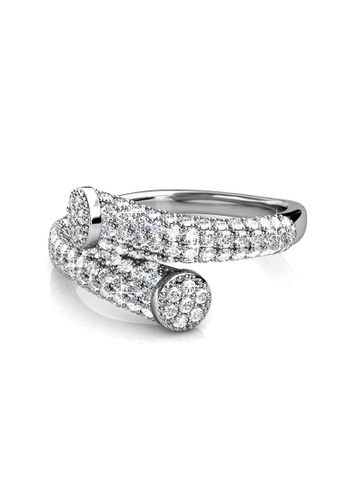 Her Jewellery Mila Ring (White Gold) -  Made with premium grade crystals from Austria HE210AC91EFKSG_1