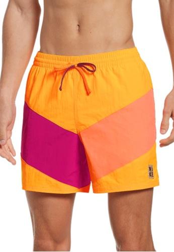 "Nike orange Nike Swim Men's Multi Logo Icon 5"" Volley Short 2631BUSEB47C50GS_1"