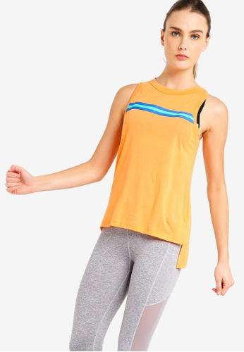 Cotton On Body orange Jersey High Neck Tank Top 2BAC6AA51C518BGS_1