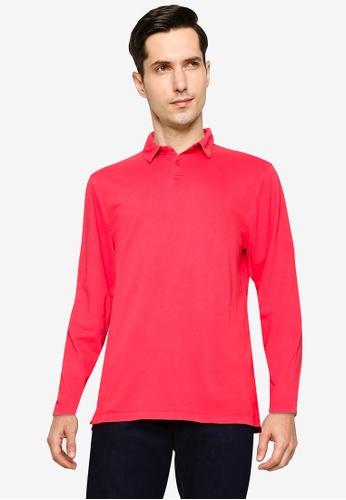 GAP red Long Sleeve Polo Shirt 86EDBAAC7B8951GS_1