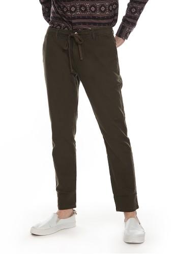 Men's Top green HULL - OLIVE Pants 6FA72AAFE9D725GS_1