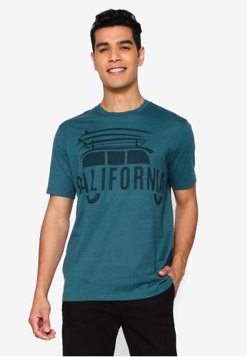 Volkswagen 綠色 短袖印花T恤 C9418AA3BF586DGS_1
