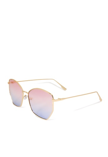ASLLY pink and blue and gold Marshmallow│ Sunglasses With Blue Lenses FC6A3GLE3EDD6DGS_1