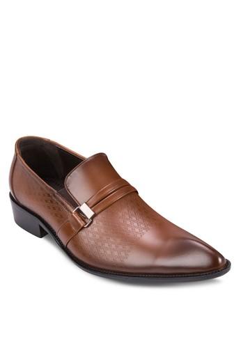 提花扣環尖頭紳士皮鞋, 鞋, 皮尖沙咀 esprit鞋