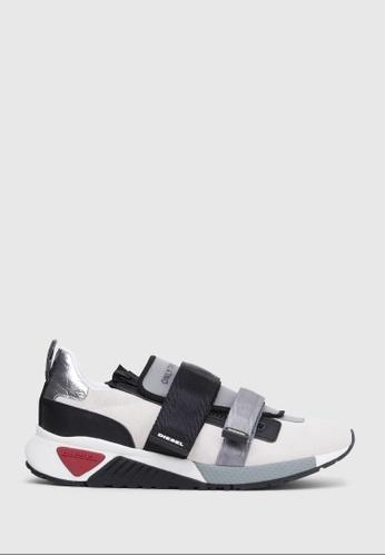 Diesel white S-Kb Strap Shoes 49ED8SHD184693GS_1