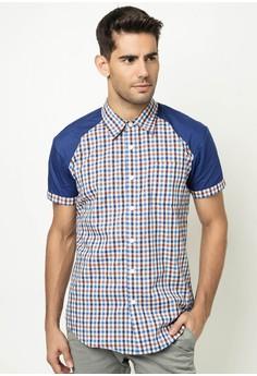 Men's Checked Short-sleeved Shirt