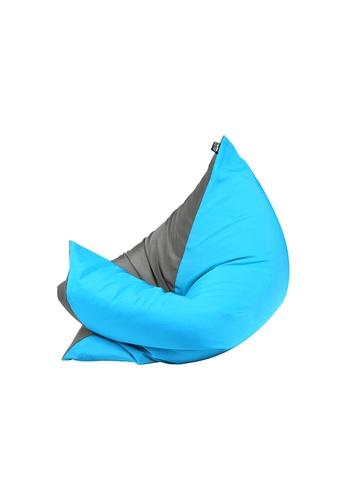 doob grey and blue and multi PLOPSTA' - versatile spill-proof doob bean bag (Ash Caribbean) F7FA9HL15D0EC0GS_1