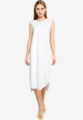LOWRYS FARM white Sleeveless Midi Dress 8C3EAAAEE455BFGS_1