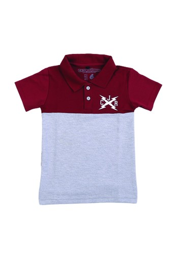 Catenzo red and grey Catenzo Junior Polo Shirt Anak Boys Alfonsine Red 41E98KAAEC891FGS_1