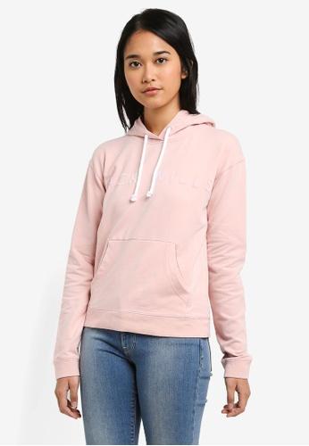Jack Wills pink Thanet Flocked Logo Hoodie 23155AAB02C982GS_1
