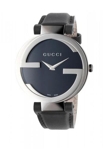 34d33de51f1 Gucci black and silver GUCCI Interlocking G Black Dial Ladies Watch  A6AA1AC8FA7E76GS 1