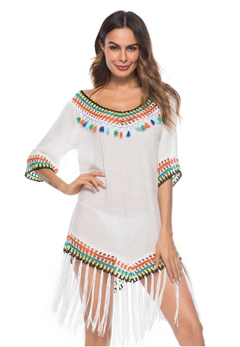 LYCKA white LTH4066-European Style Beach Casual Outer Dress-White F6070US354A98AGS_1