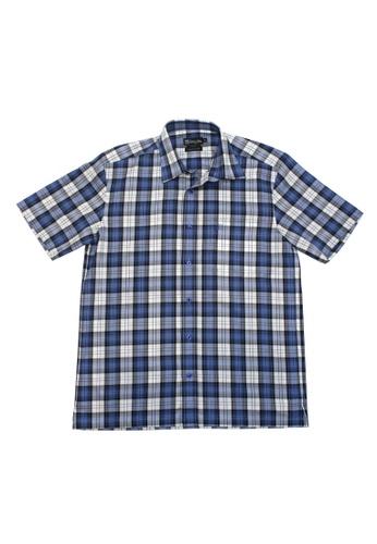 Valentino Rudy blue Valentino Rudy Italy Men's Short Sleeve Regular Fit Blue Shirt (04807-0723-43) CDEE3AA8CB90FFGS_1