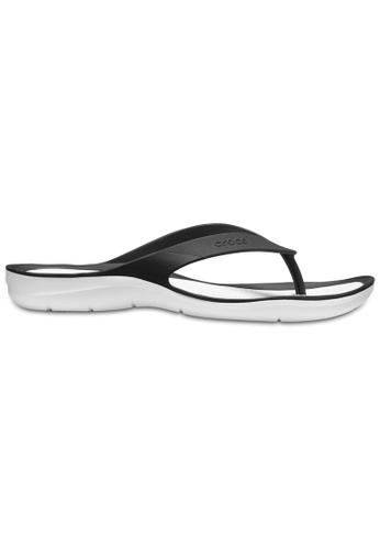 Crocs black Women's Swiftwater Flip Blk/Whi 8A296SH582D874GS_1