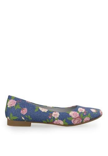 Footspot blue FOOTSPOT - Square Toe Flats 2CC6CSH9678D92GS_1