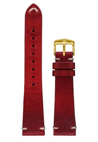 Undone red Undone Red Calf Leather Strap 20mm (Gold Buckle) UN712AC2VEJXHK_1