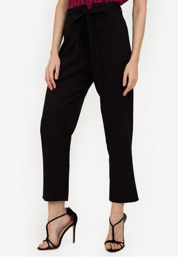 ZALORA WORK black Notch Detail Pants A47DDAA6E445CCGS_1