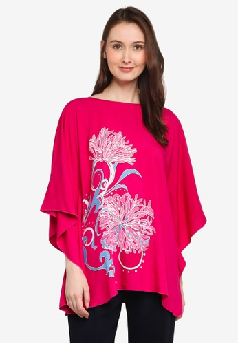 NOOR ARFA pink Poncho Lily Of The Nile CC036AA5E52D70GS_1