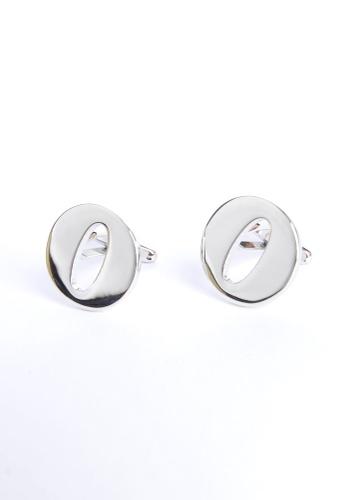 Splice Cufflinks silver Monogram Alphabet Rhodium Plated Cufflinks - O SP744AC30PQVSG_1