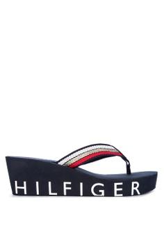 0e3578949df0 Tommy Hilfiger navy Iconic Wedge Beach Sandals B652ESH1433783GS 1