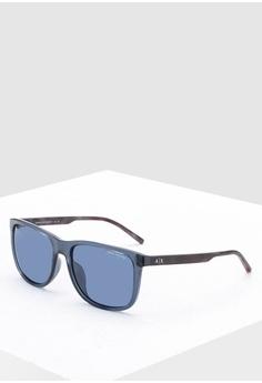0700a5a057d9 Armani Exchange blue Urban Attitude AX4070SF Sunglasses AD0F0GLDA58EC1GS_1