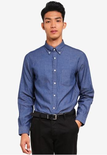 Brooks Brothers 海軍藍色 格紋長袖襯衫 0A7D3AA96B48C0GS_1