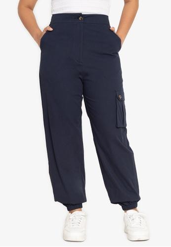 ZALORA BASICS navy Casual Cargo Pants C4790AA830215BGS_1