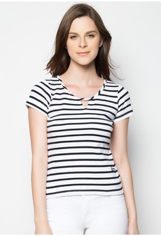 Slim Fit Stripes Tees
