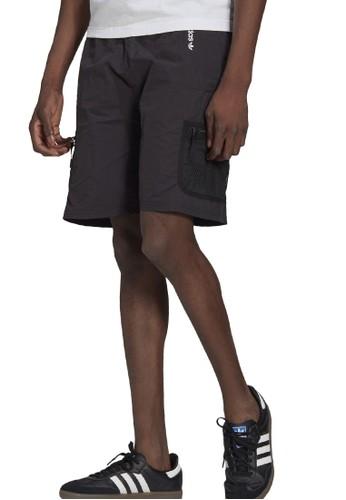 ADIDAS black adventure woven cargo shorts 94BD7AA65BF2E8GS_1