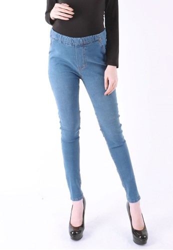 Eve Maternity blue Jeans hamil perut simple elegant 35BCCAAAE79D00GS_1