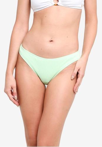 Hollister green Rib Bikini Bottom B6D2CUS0E6400DGS_1