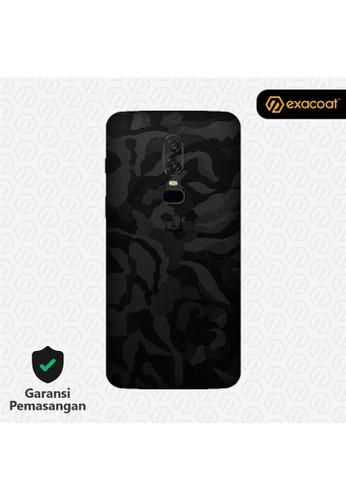 Exacoat OnePlus 6 3M Skins Black Camo - Cut Only 213B8ES568C213GS_1