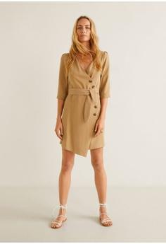dd02f1b4c1e 15% OFF Mango Buttoned Wrap Dress S  59.90 NOW S  50.90 Sizes XS S M L