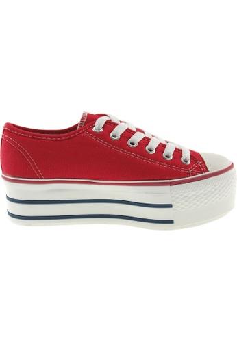 Maxstar red Maxstar Women's C50 6 Holes Platform Canvas Low Top Sneakers US Women Size MA164SH20PPRSG_1