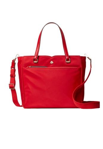 Kate Spade red Kate Spade Jae Nylon Medium Satchel Fave Root Red wkru6512 C1F80AC1703B42GS_1