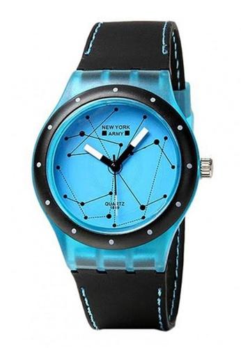 Greatvalueplus blue Newyork Army Constellation Print Silicon Strap Watch NYA1288 49F6AAC6CB2AD5GS_1